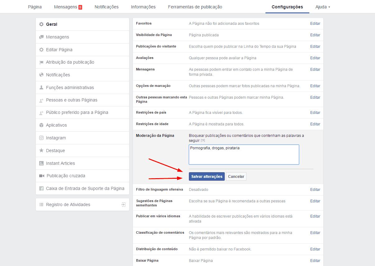 bloquear-palavras-fan-page-salvar