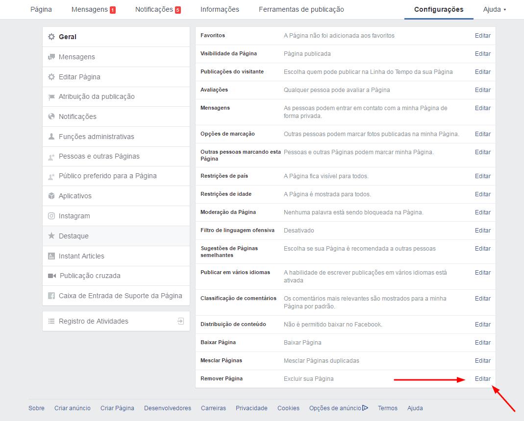 remover-pagina-do-facebook-editar