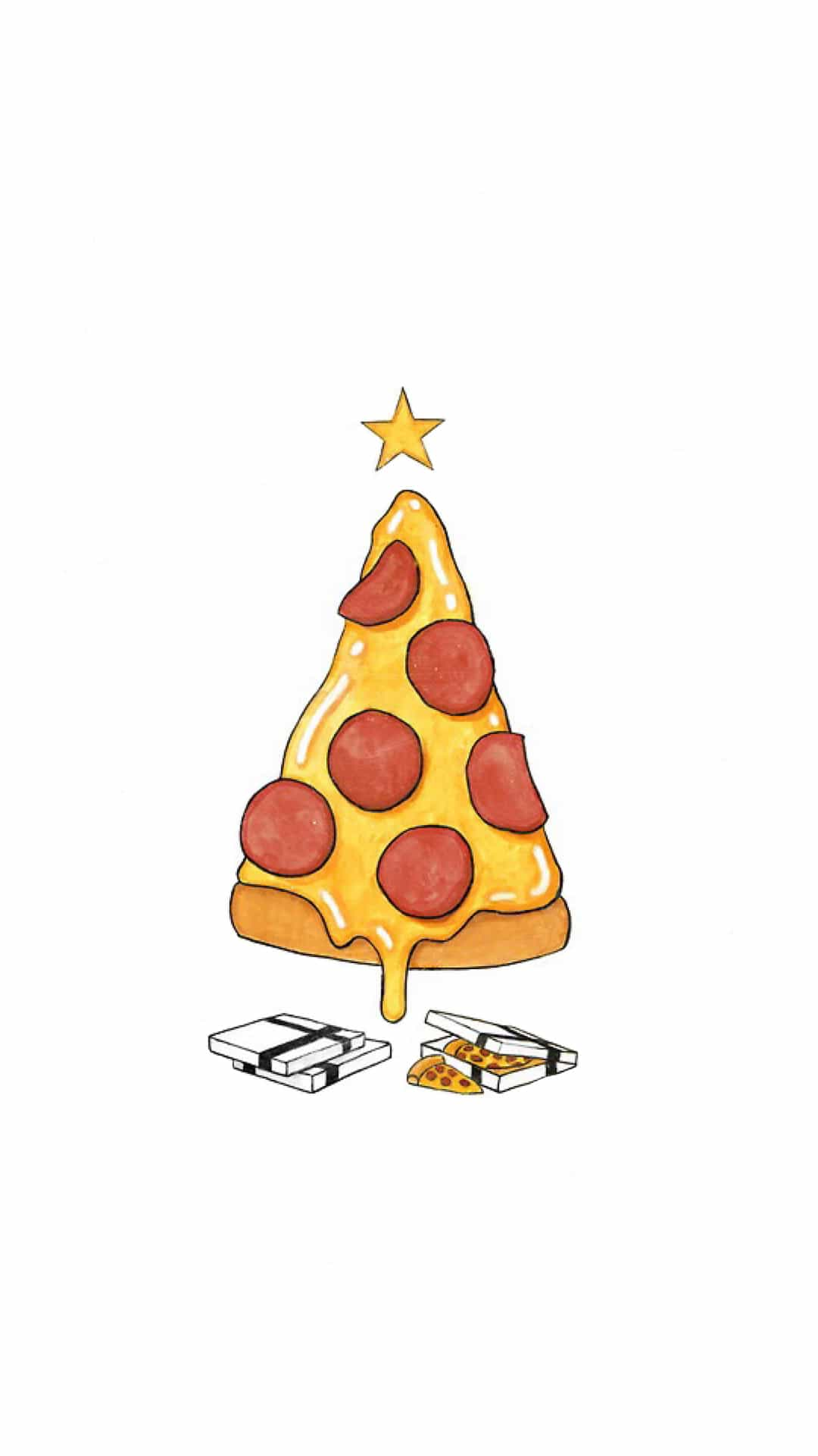 funny-pizza-christmas-tree-android-wallpaper