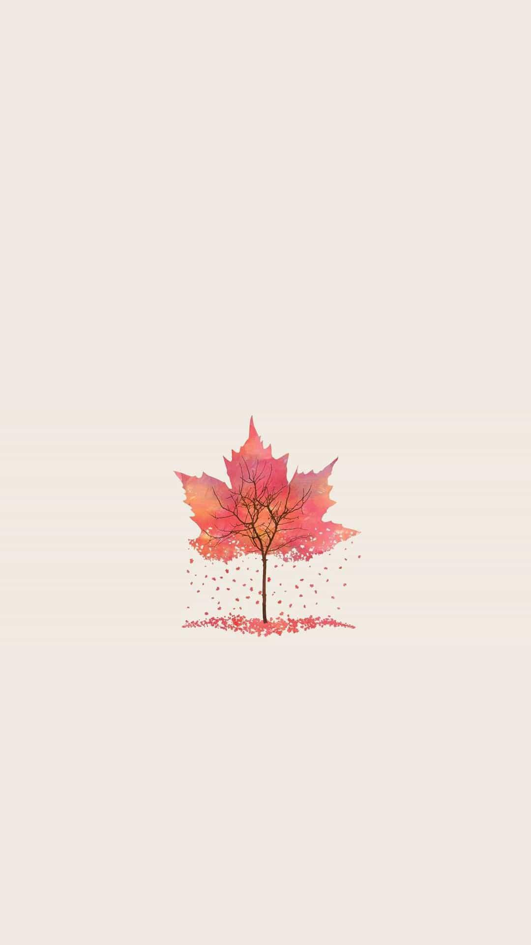 minimal-autumn-tree-leaf-illustration-android-wallpaper