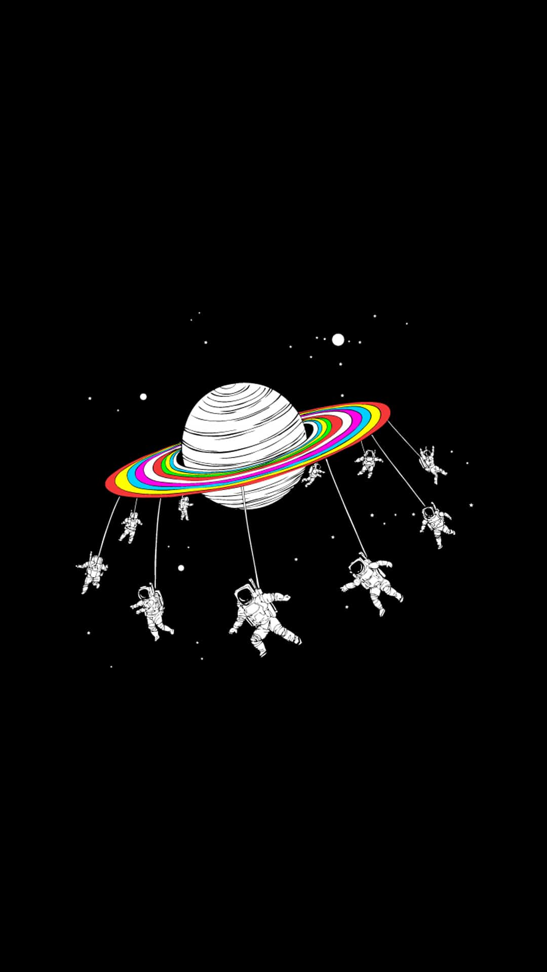 space-astronauts-go-round-planet-android-wallpaper