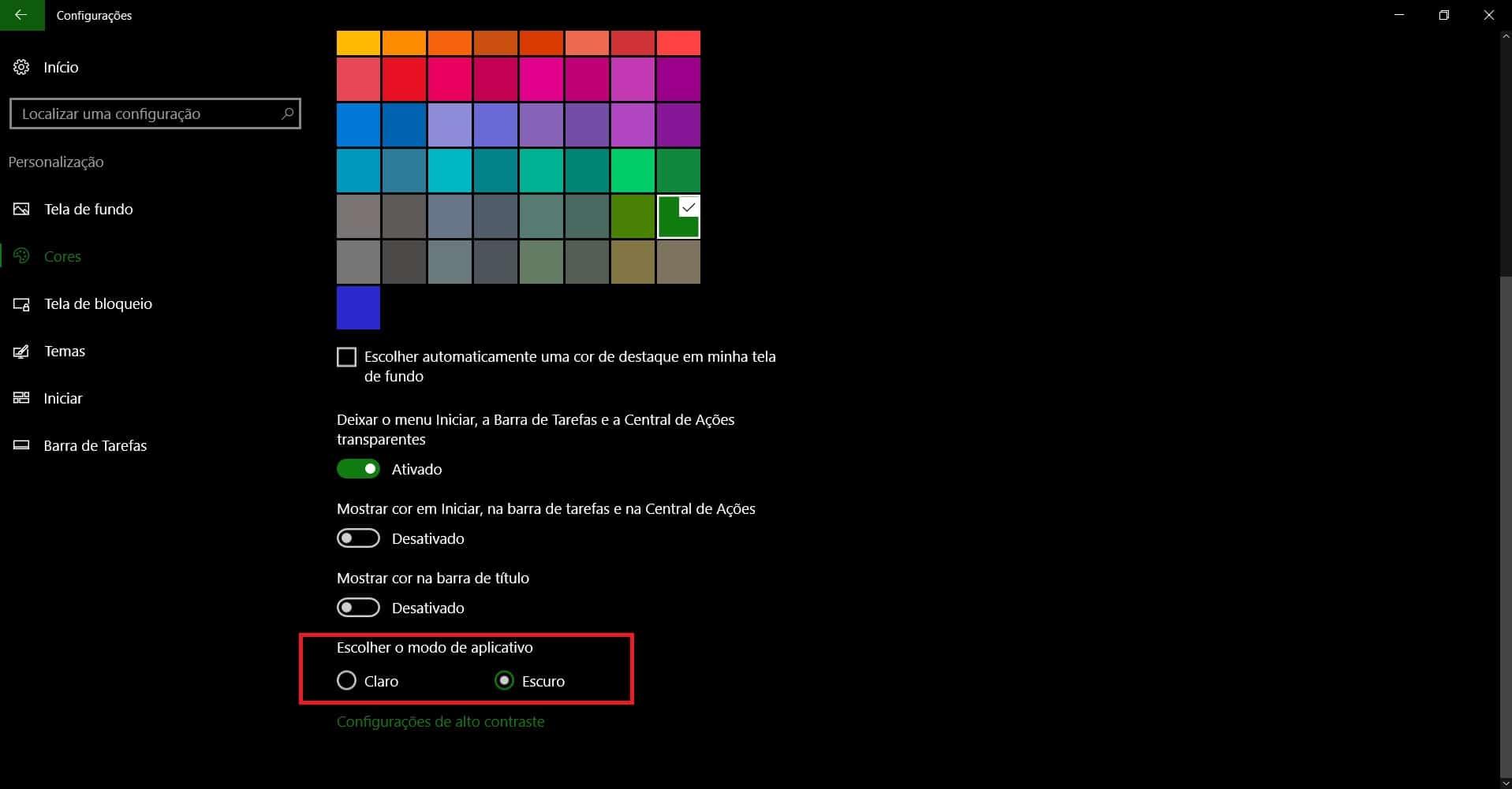 customizar-menu-iniciar-windows-10-escurecer