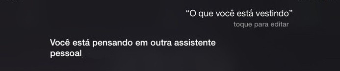 respostas siri iphone