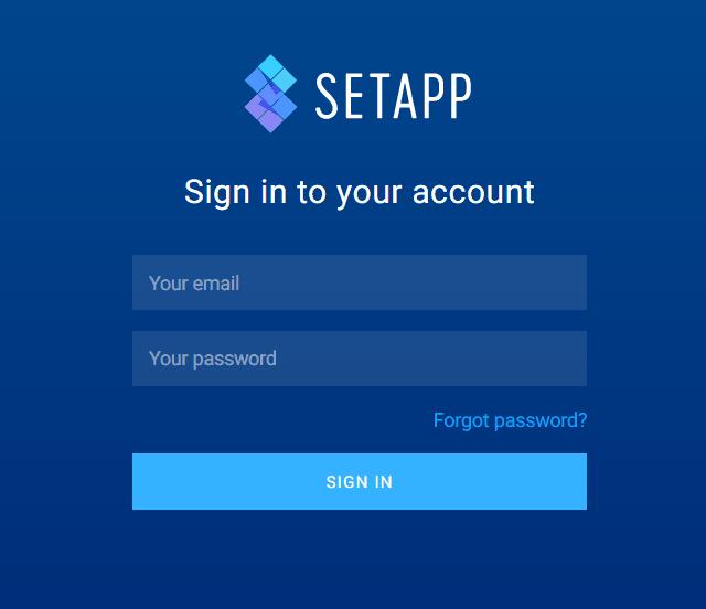 setapp login