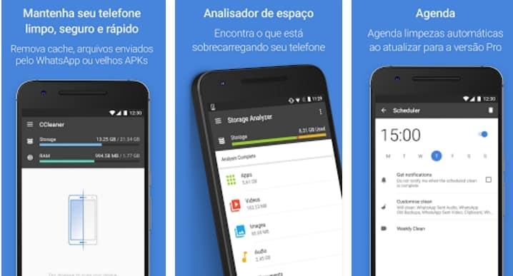 aplicativos para Moto G5 ccleaner