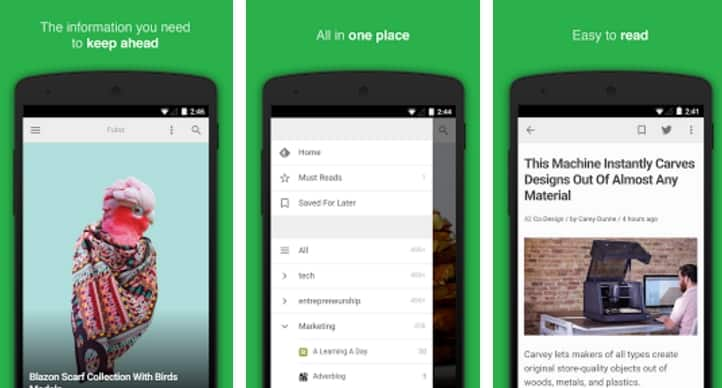 aplicativos para Moto G5 feedly