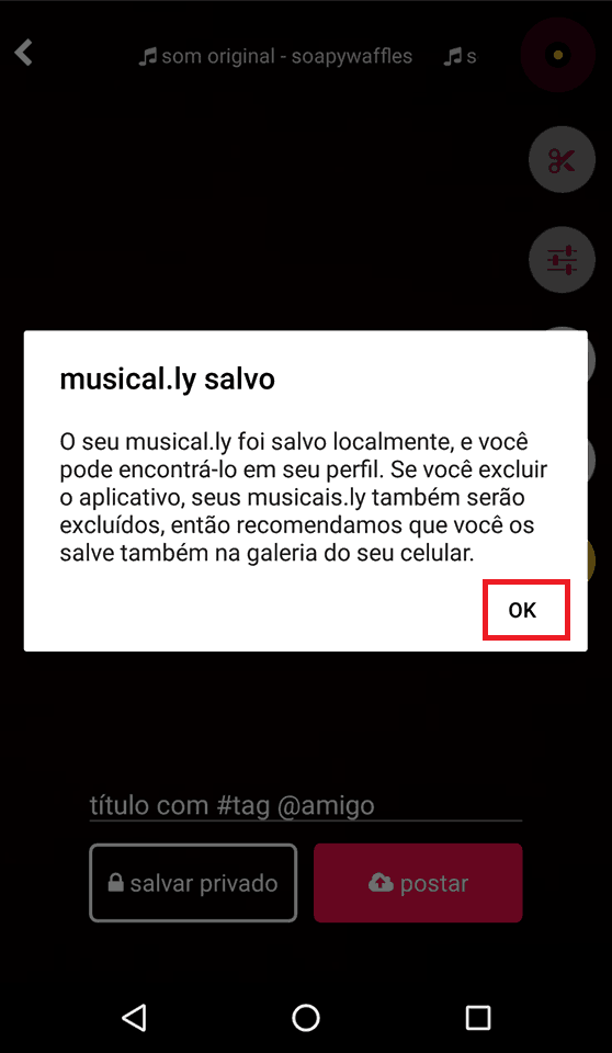 vídeos do musically