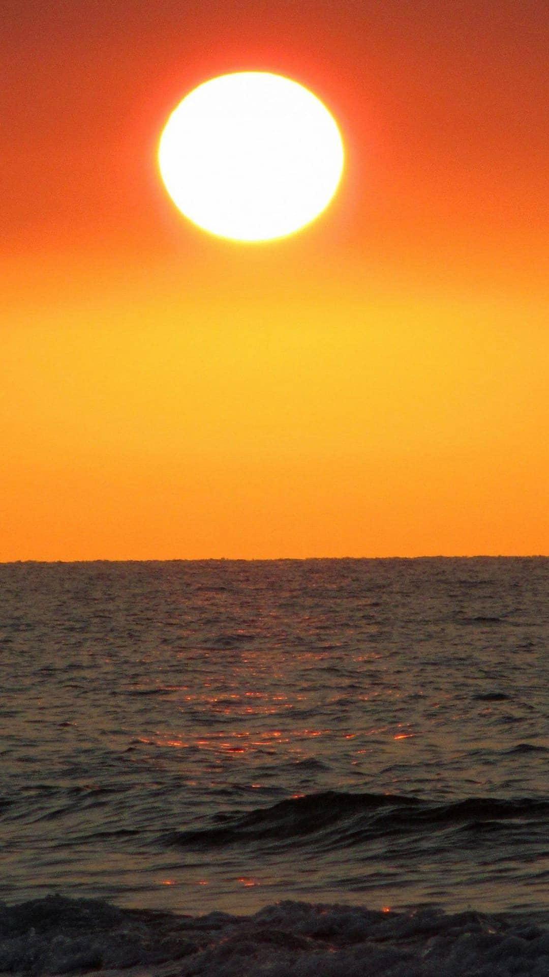 Big Sunset Ocean Android Wallpaper