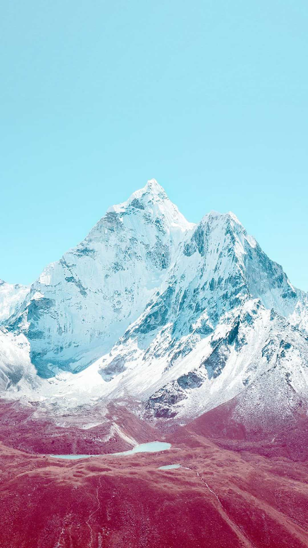 Blue Snowy Mountain Android Wallpaper