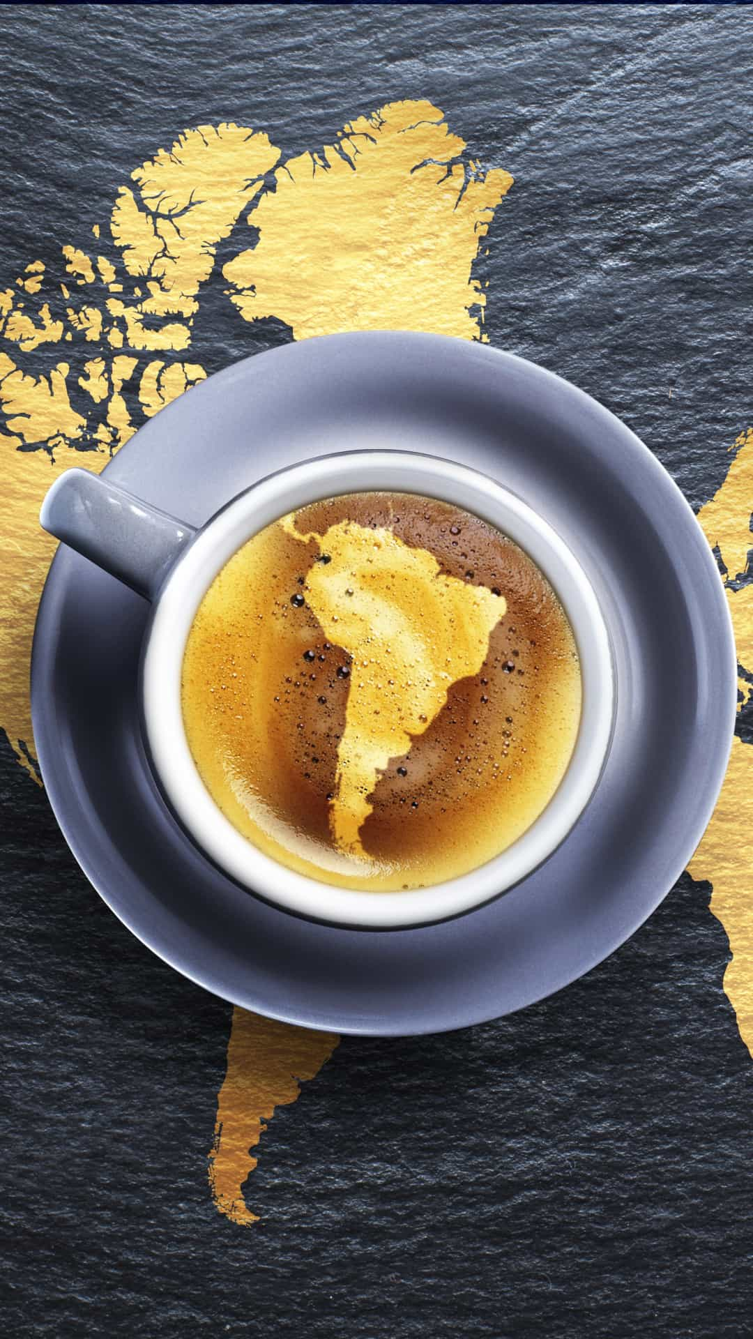 Coffee Africa Map Foam Android Wallpaper