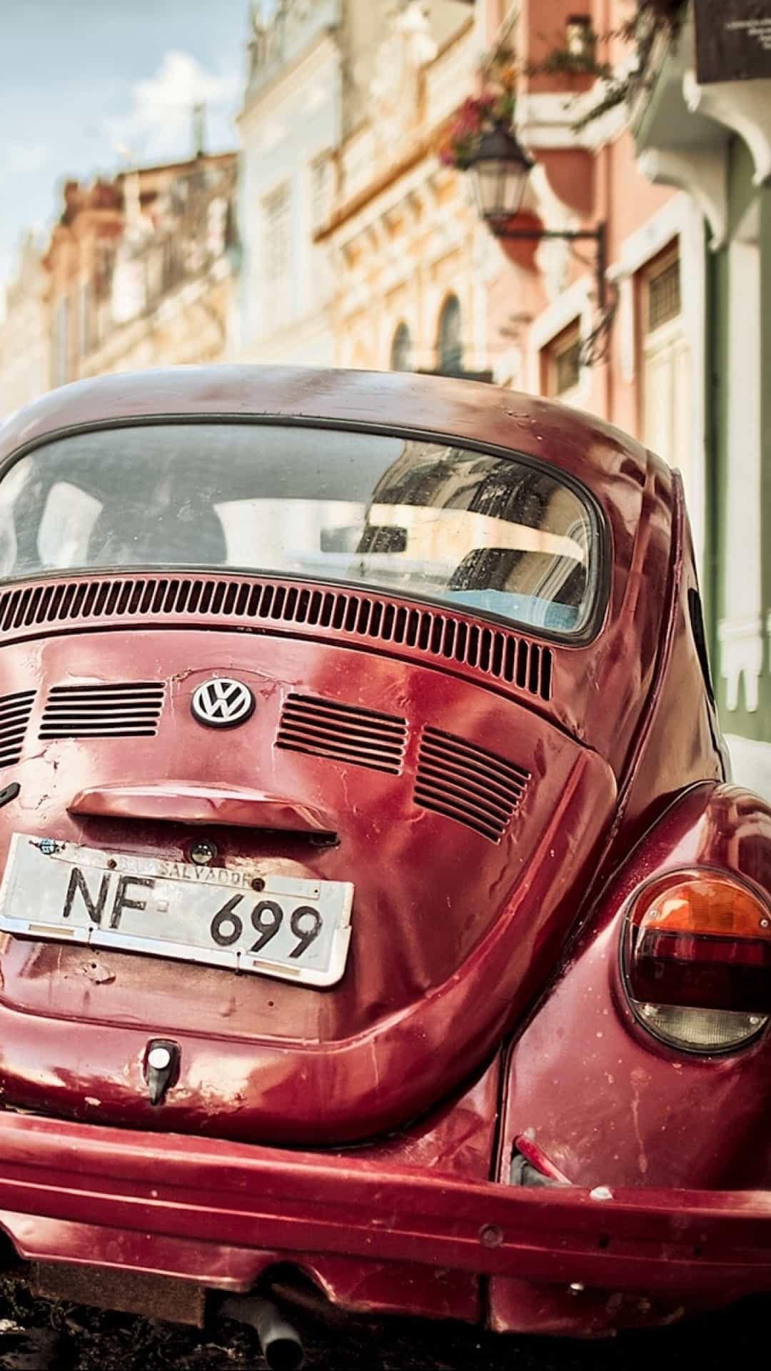 Retro Volkswagen Beetle Android Wallpaper