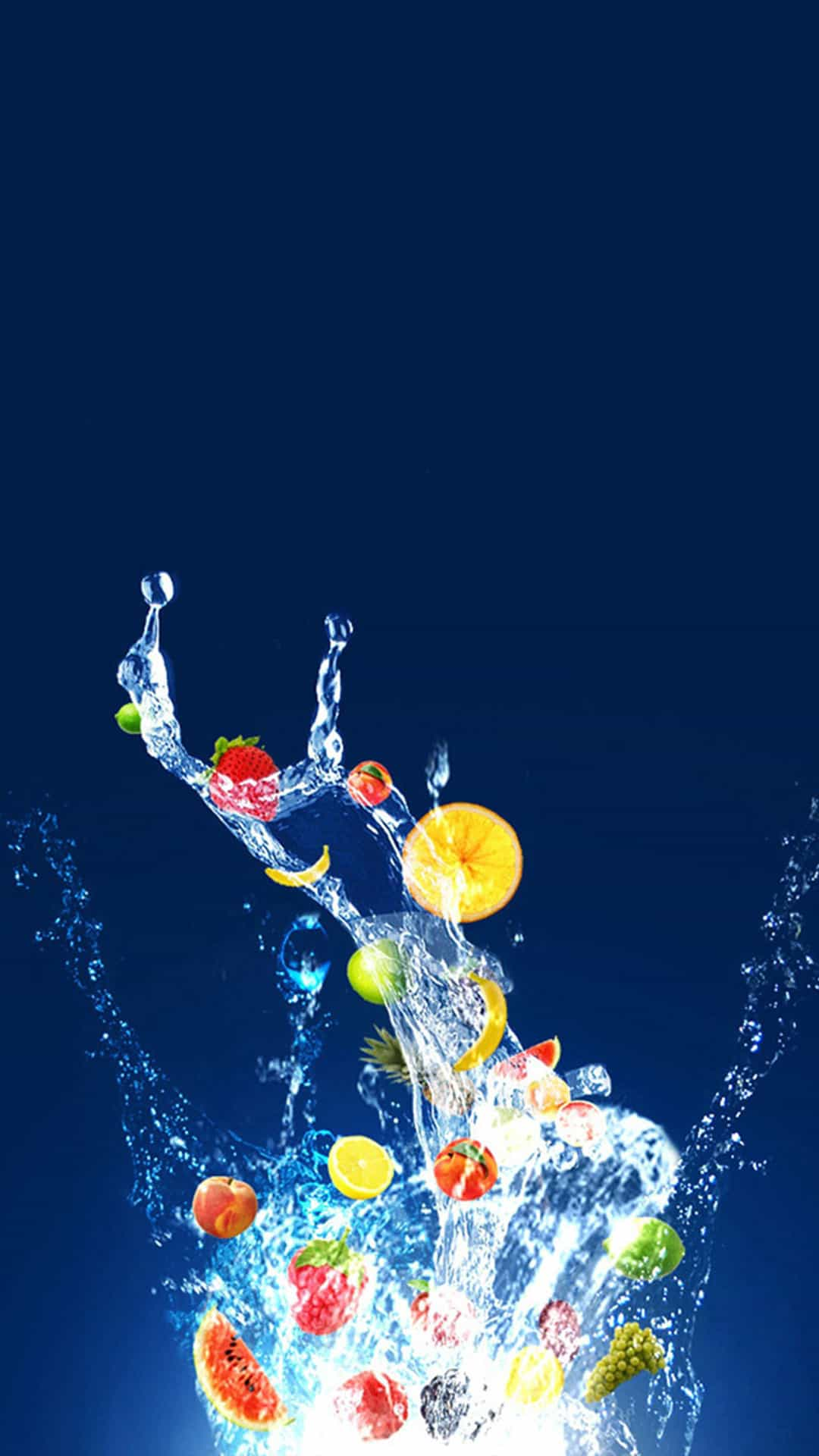 Water Fruit Burst HTC Android Wallpaper