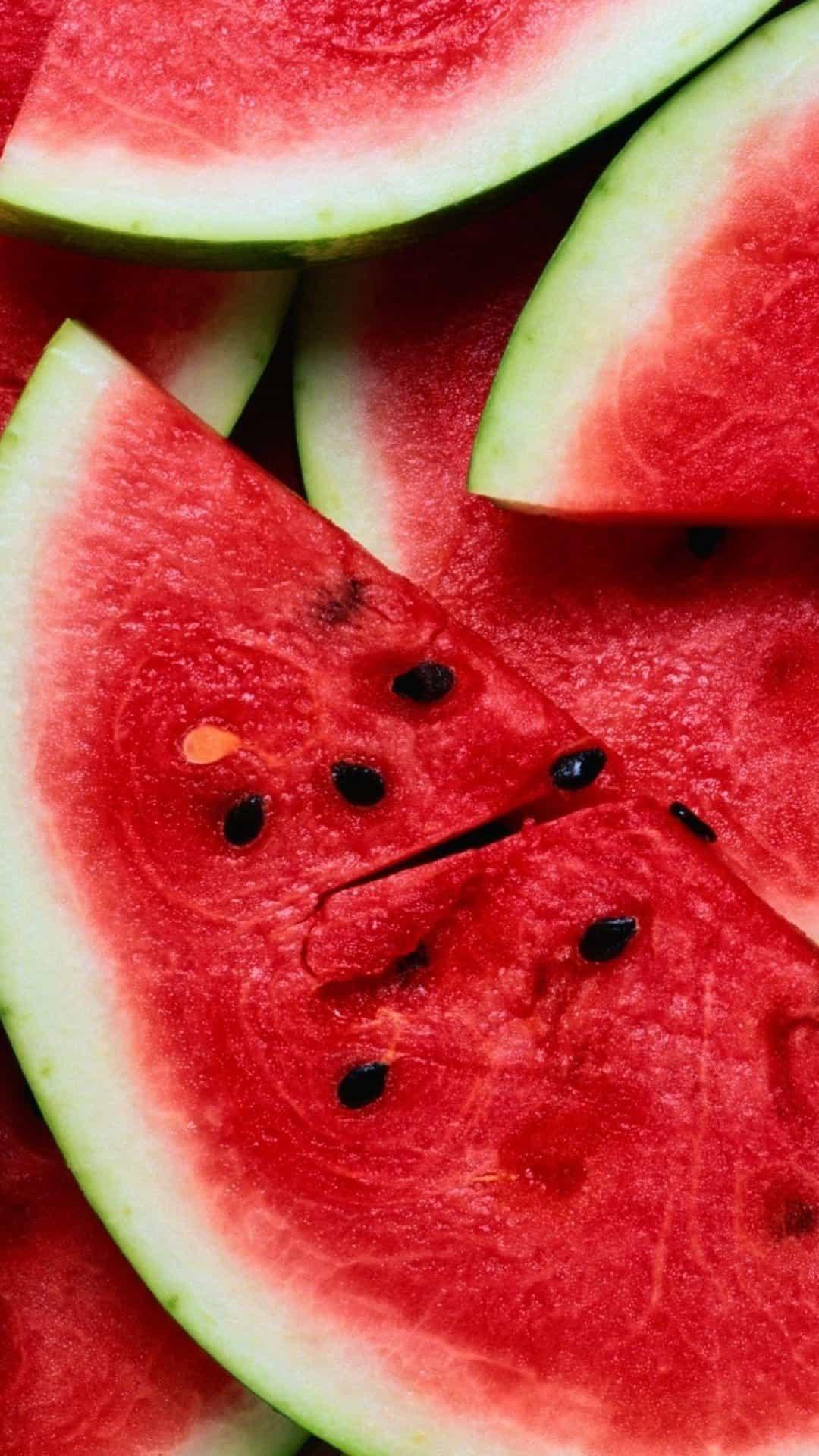 Watermelon Pieces Lockscreen Android Wallpaper