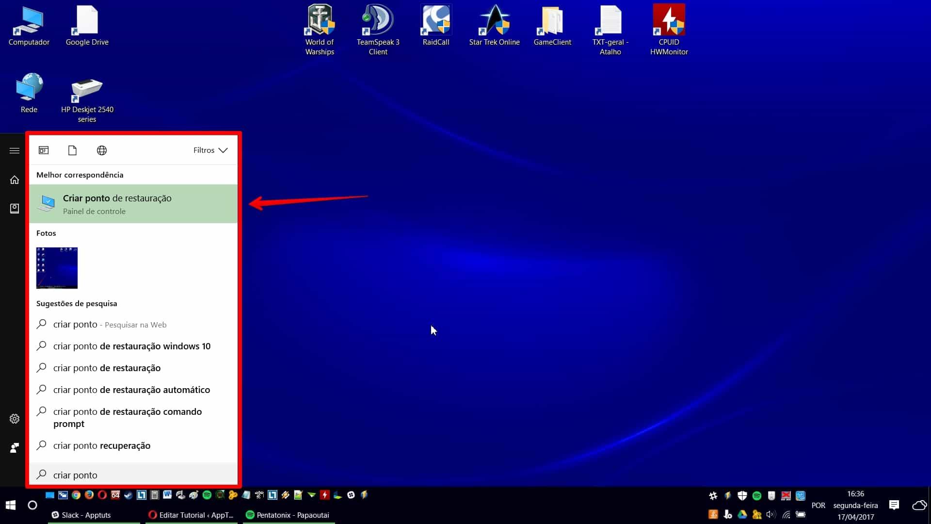 Como criar ponto de restauração no Windows 10 como backup