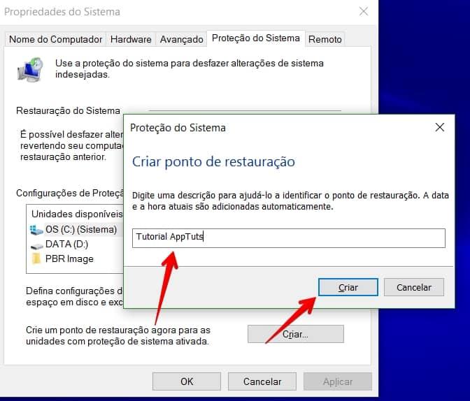 criar-ponto-de-restauracao-no-windows-10-nomear