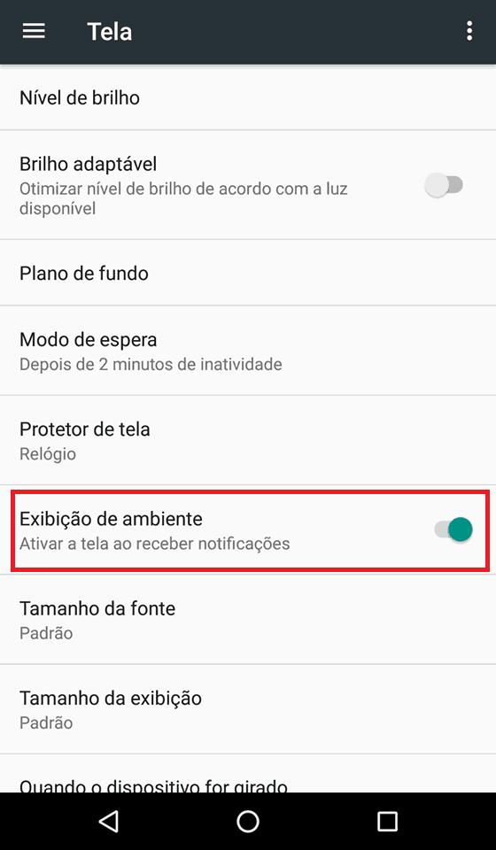 notificações android