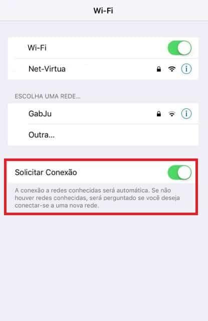 notificações de wi-fi