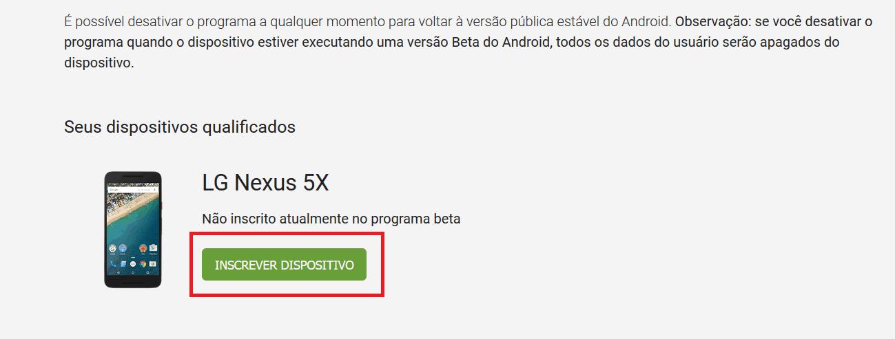 beta inscrever
