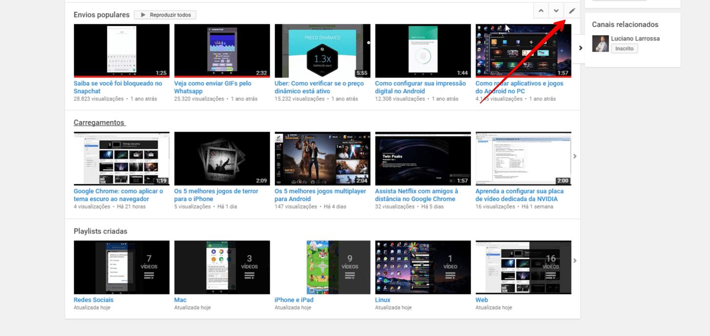 organizar-canal-do-youtube-editarsecao