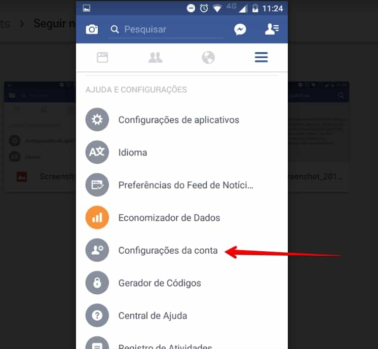 seguir-no-facebook-configuracoes