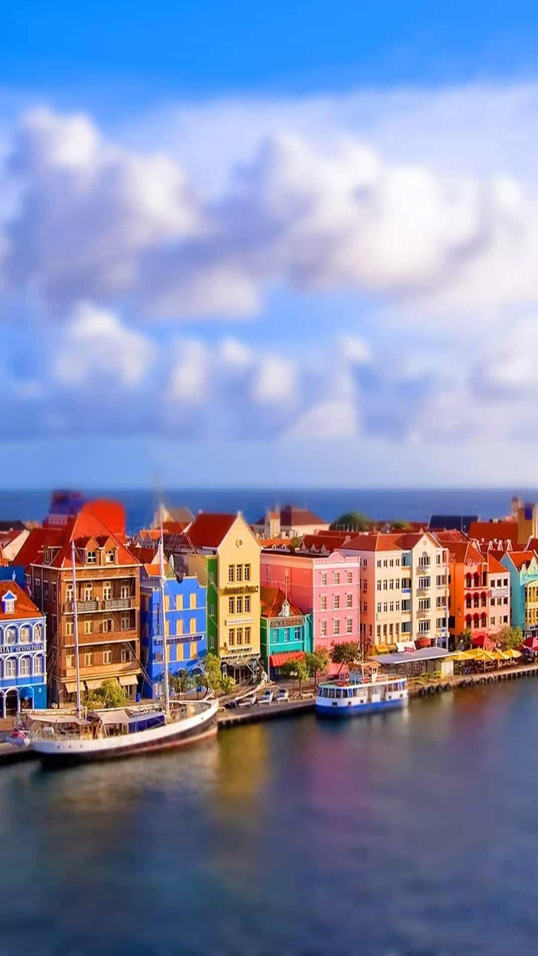 Colorful Venice Port Android Wallpaper