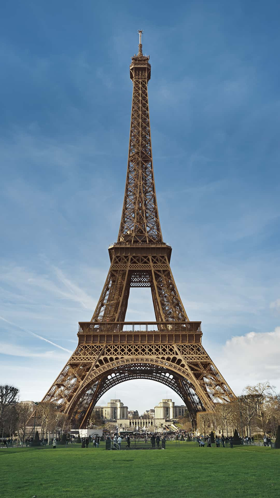 Eiffel Tower Paris France Blue Sky Android Wallpaper