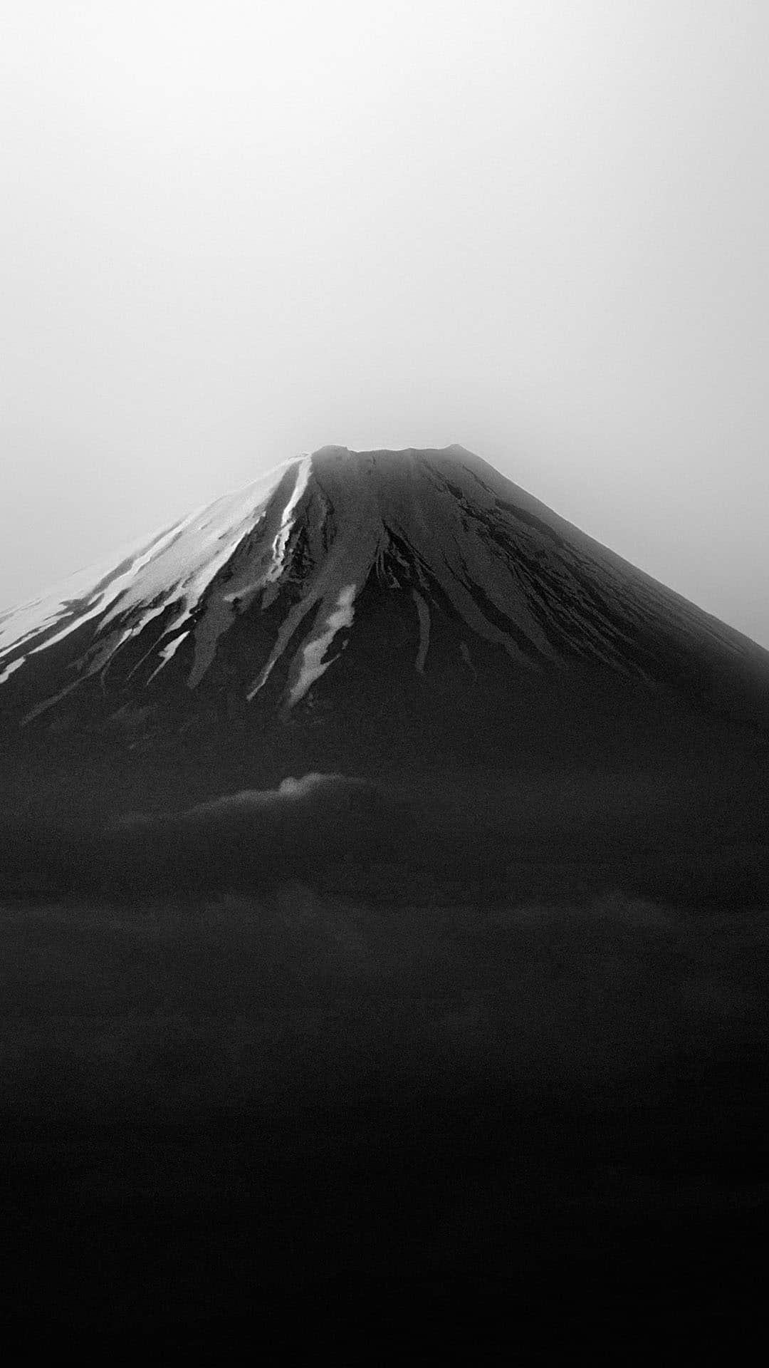 Mount Fuji Japan Black White Android Wallpaper