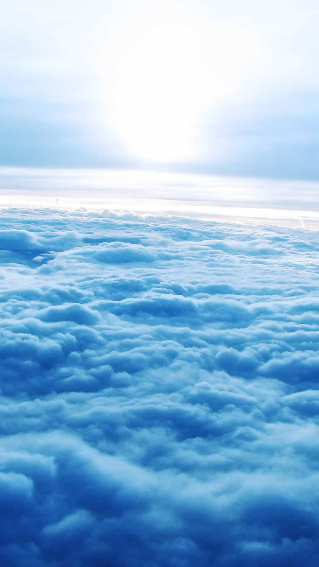 Soft Blue Clouds Aerial Android Wallpaper