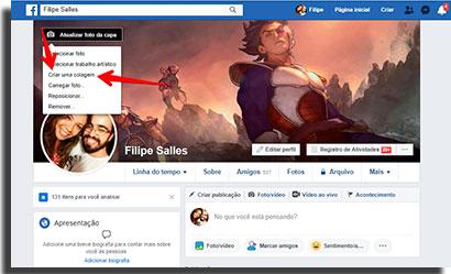 colocar stickers no status do facebook capa