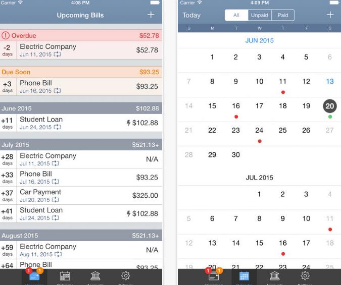 aplicativos-para-controlar-gastos-billtracker