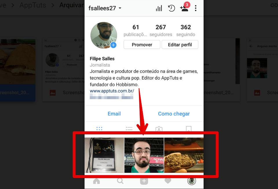 arquivar-posts-do-instagram-fotos