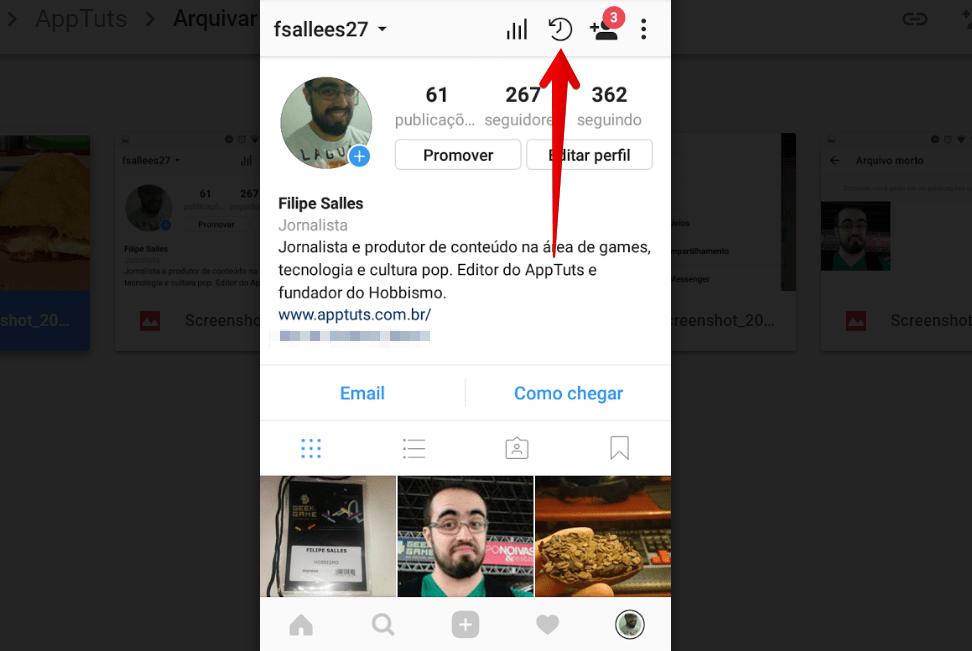 arquivar-posts-do-instagram-relogio