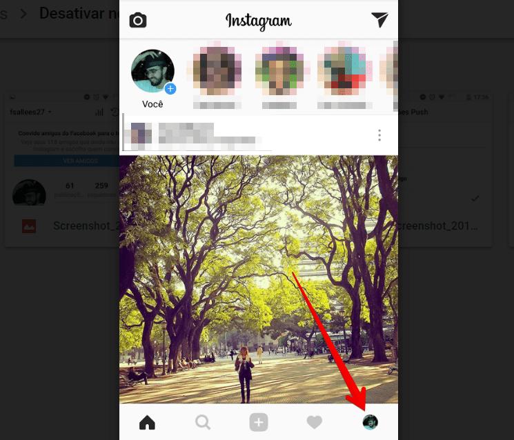 desativar notificações no instagram inicio