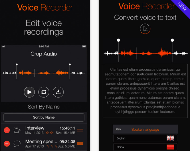 transformar-audio-em-texto-voicerecorder