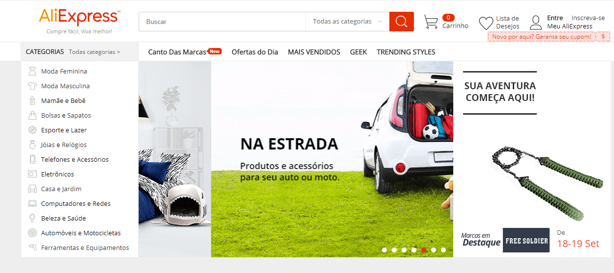 alternativas ao Wish aliexpress