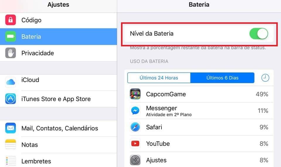 bateria do iOS 11 durar mais dicas