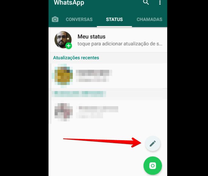 colocar link no Status do WhatsApp escrever