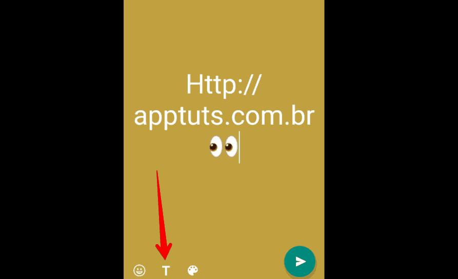 colocar link no Status do WhatsApp estilo