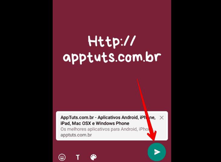 colocar link no Status do WhatsApp terminar