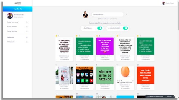 influenciador no instagram top posts