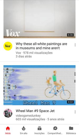 alterar a velocidade dos videos do youtube
