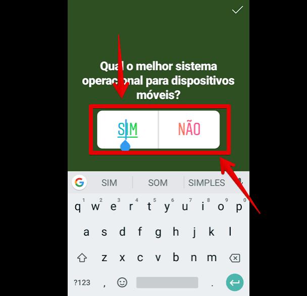 como fazer enquete no instagram respostas