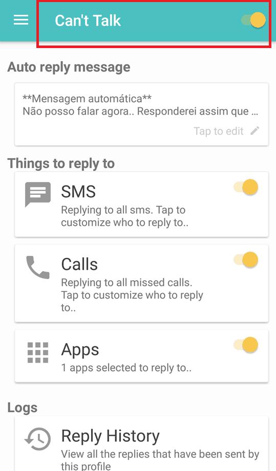 resposta automatica