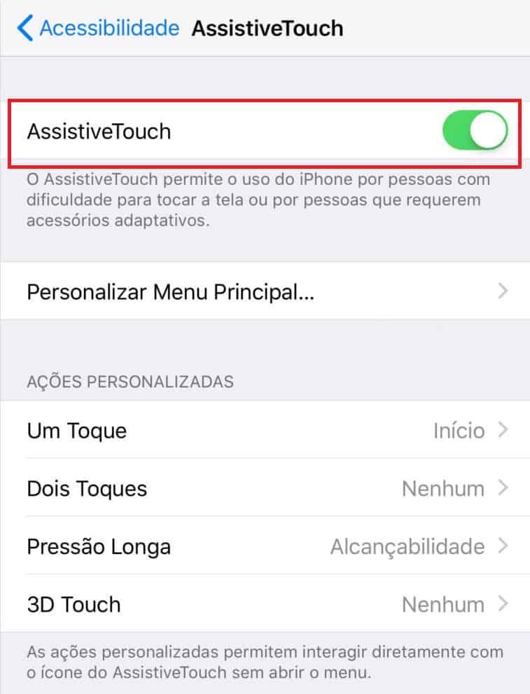 acessibilidade iphone