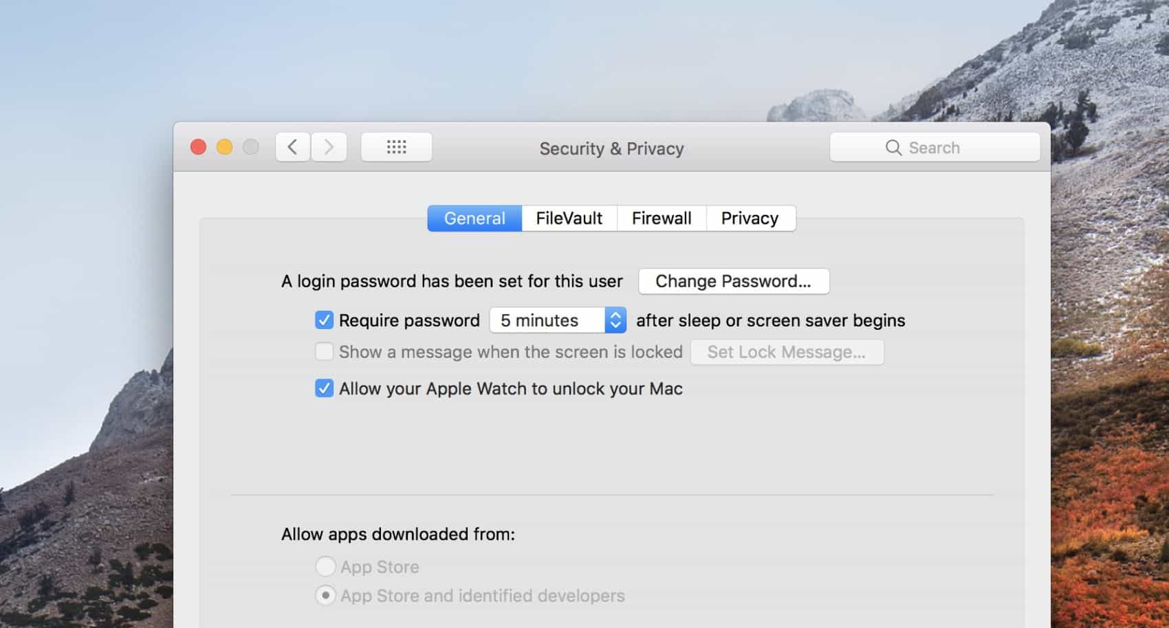 Stop from getting logged off common MacOS High Sierra problems
