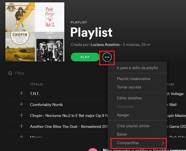 playlist do spotify