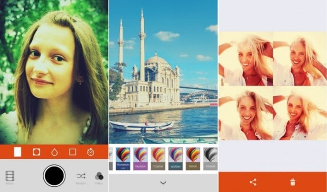 Retrica best selfie apps for Android
