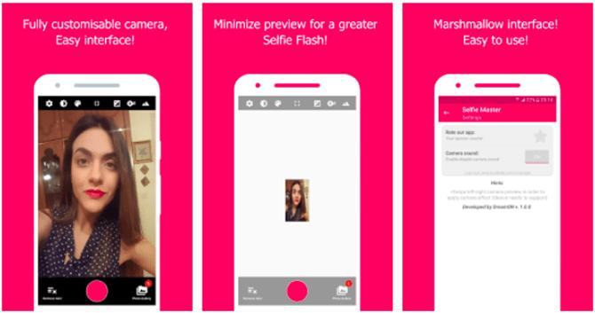 tirar selfies no android selfie master