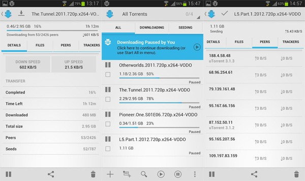 apps de torrent para baixar filmes no android