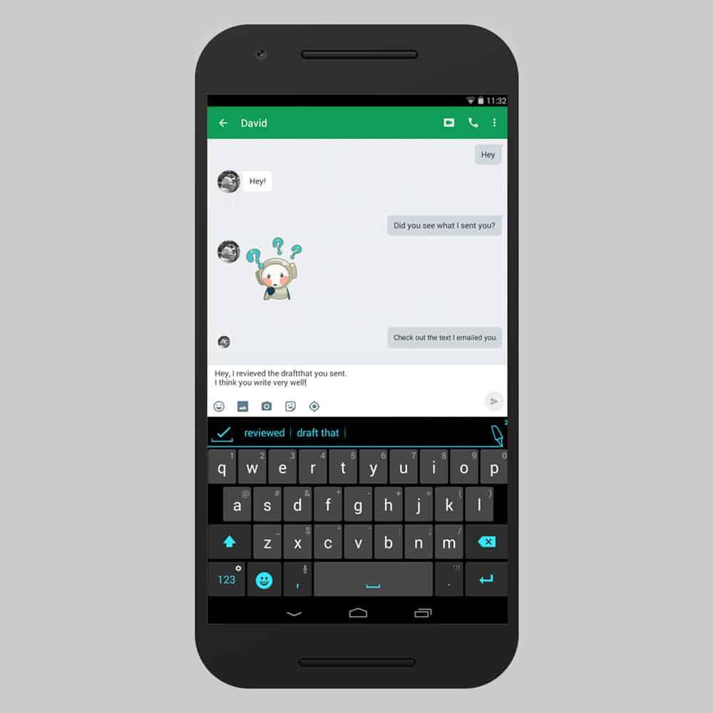 apps de teclado de android ginger